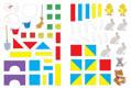 Изображение Математика с наклейками: геометрия и счёт. 3-4 года